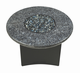 "Fire Pit Table : Granite  32"" Round  Blue Pearl"