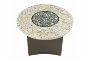 "Fire Pit Table : Granite 32"" Round Giallo Santo"