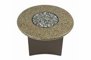 "Fire Pit Table : Granite  32"" Round Tropical Brown"