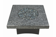 "Fire Pit Table : Granite  40"" Square Blue Pearl"