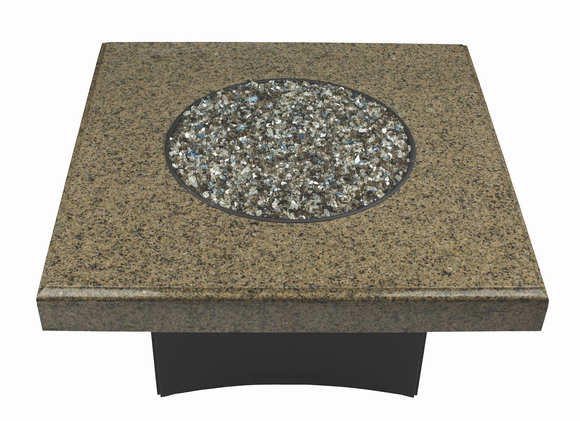 """Fire Pit Table : Granite  40"""" Square Tropical Brown"""