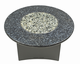 "Fire Pit Table : Granite 42"" Round Blue Pearl"