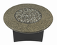 "Fire Pit Table : Granite  42"" Round Tropical Brown"