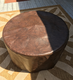 """Fire Pit Table : Granite  32"""" Round Tropical Brown"""