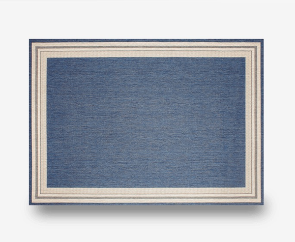 "Garden Cottage Blueberry Indoor Outdoor Rug: 5'3"" x 7'4"""