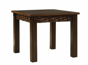 Greenwich Square Wicker End Table