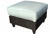 La Joya Outdoor Wicker Ottoman