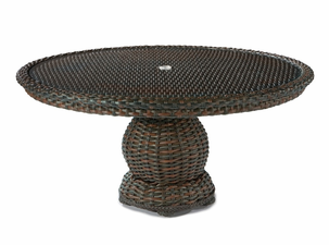 "Lane Venture South Hampton 60"" Round Glass Top Dining Table"