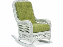 LaneVenture Four Seasons White Wicker Rocker