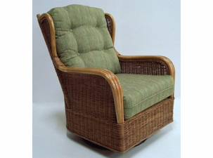 Lexington Rattan Swivel Glider Chair