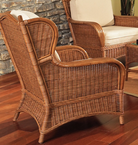 Concord Rattan Wing Chair