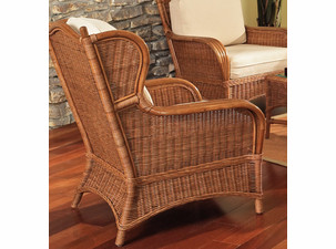 Lexington Rattan Wing Chair