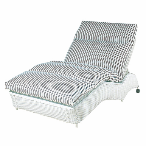 Lloyd Flanders Double Chaise Lounge Replacement Cushion. Double Chaise Chair. Home Design Ideas
