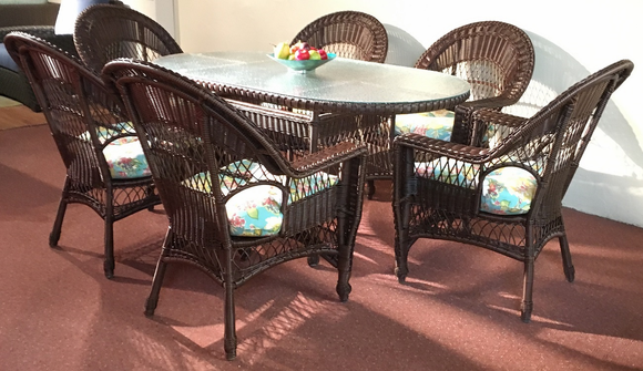 Madison Outdoor Wicker Dining Set/7