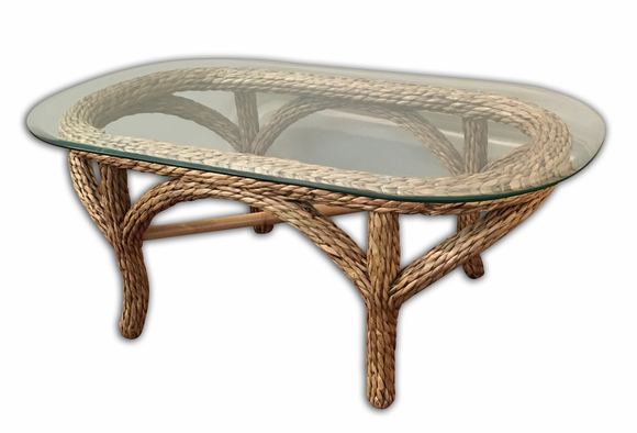 Martinique seagrass coffee table for Seagrass coffee table