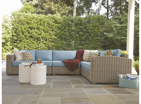 Monaco Outdoor Wicker Sectional