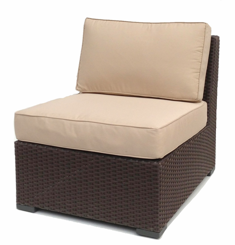 sc 1 st  Wicker Paradise & Outdoor Wicker Armless Chair