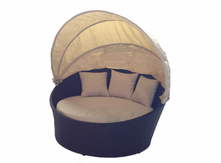 Outdoor Wicker Bed - Light Beige
