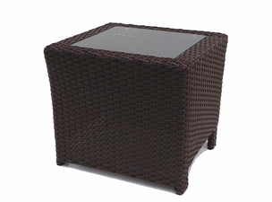Outdoor Wicker Inset End Table