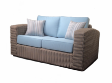 Outdoor Wicker Loveseat - Monaco