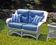 Outdoor Wicker Loveseat - Princeton