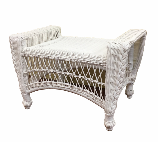 Outdoor Wicker Ottoman Cape Cod