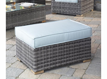 Outdoor Wicker Patio Ottoman Riviera: Greystone