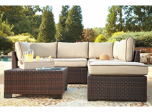 Outdoor Wicker Sectional- Loughran