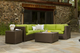 Outdoor Wicker Sectional | Sonoma with Stock Sunbrella Fabric