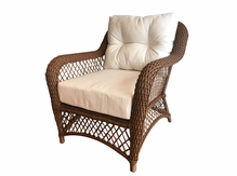 Patio Wicker Chair With Sunbrella  Charleston Collection