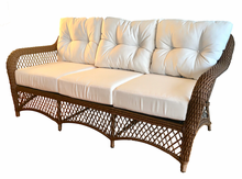 Patio Wicker Sofa with Sunbrella- Charleston Collection