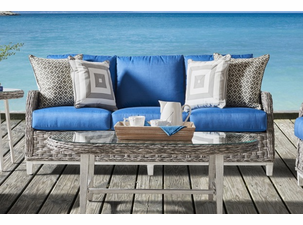 Quickship Grand Isle Outdoor Wicker Sofa