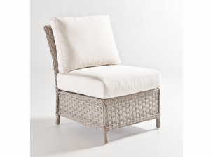 Quickship Mayfair Outdoor Wicker Armless Chair