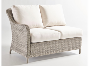 Quickship Mayfair Outdoor Wicker LF Loveseat