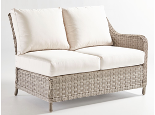 Quickship Mayfair Outdoor Wicker RF Loveseat