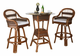 Rattan Bar Set: Tigre Bay Set of 3