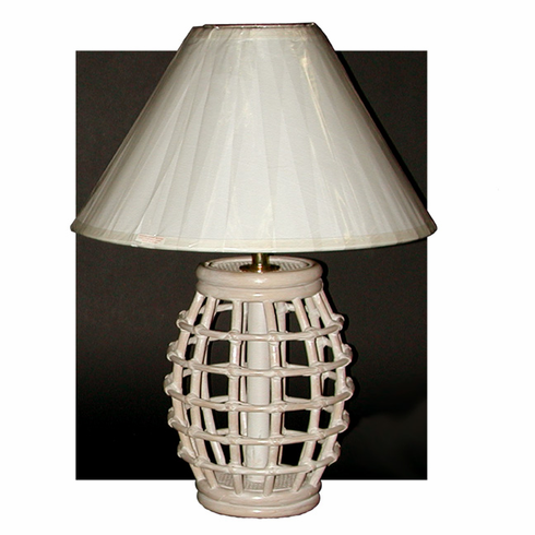 Rattan Barrel Lamp