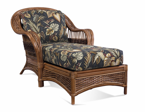 Rattan chaise lounge tigre bay wicker paradise for Bamboo chaise lounge