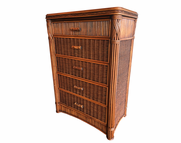 Rattan Chest - Barbados 5 Drawer