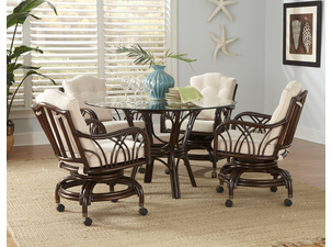 Rattan Swivel Rocker Dining Set | Naples Collection