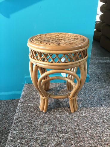 Round Rattan Stool/Table