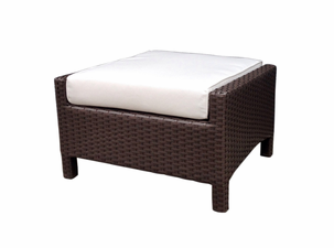 Sonoma Outdoor Wicker Ottoman Rectangular