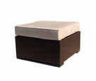 Sonoma Outdoor Wicker Ottoman Square