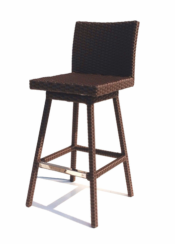 Sonoma Outdoor Wicker Swivel Barstool