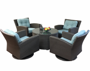 Outdoor Wicker Furniture Swivel Conversation Group