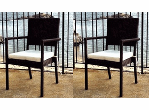South Hampton Resin Wicker Dining Chairs -2  Set of 2 (total of 4 chairs)
