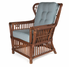 The Lodge Rattan Wing Chair