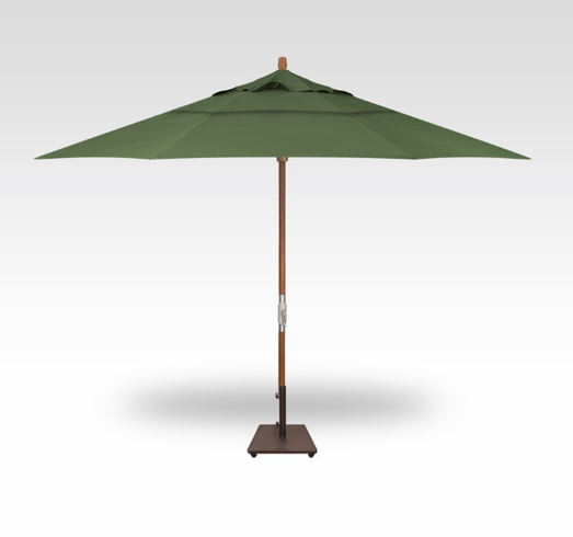 Treasure Garden 11 Foot Teak Crank Umbrella