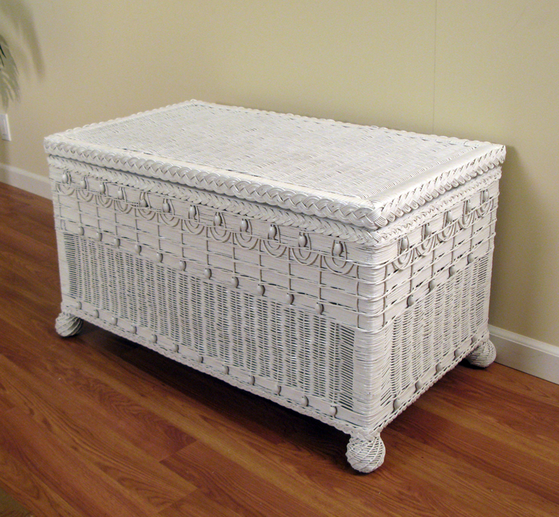 Victorian Large Wicker Trunk Wicker Paradise