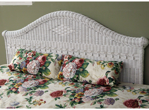 Victorian Queen Wicker Headboard
